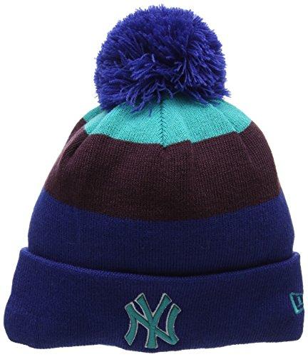 New Era NY Yankees Bonnet en Tricot à Pompon Unisexe Taille Unique Bleu (Bleu)