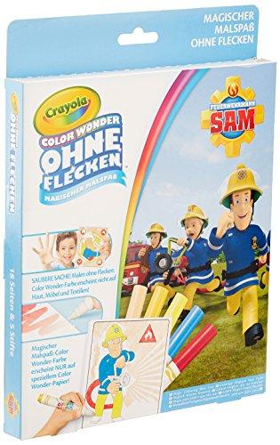 CRAYOLA 12799.4100 Color Wonder-Feuerwehrmann Sam Malbuch, Bunt
