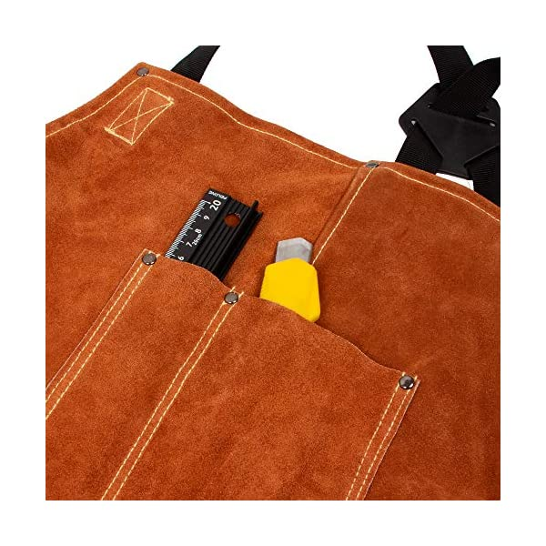 BEETRO Welding Apron with Gloves 4