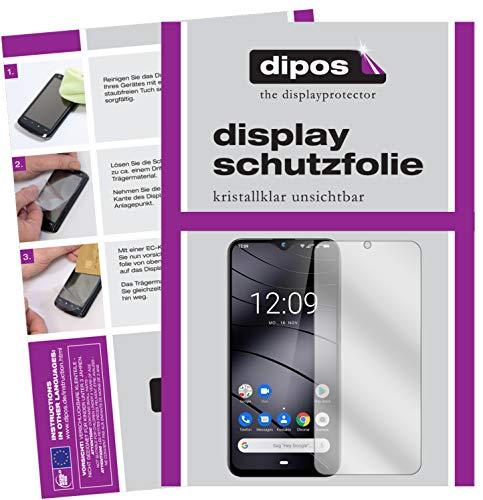 dipos I Schutzfolie kompatibel mit Gigaset GS290 Bildschirmschutz-Folie klar (Kleiner als das Glas, da Dieses gewölbt ist)