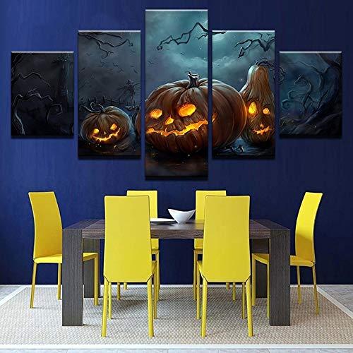 Halloween pompoen 5 stuks vakantie decoratie schilderij afbeelding kinderen canvas muurkunst modern schilderij