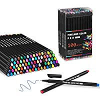 Hethrone 100-Colored Fine Point Markers Journal Planner Pen Set