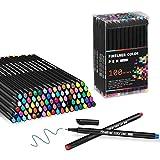 Penne Fineliner - 100 Colori Pennarelli a Punta Fine per prendere appunti diario scrittura disegno colorazione calendario forniture d'arte