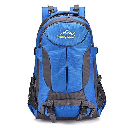Nylon imperméable à dos pour hommes/femmes multifonction loisir portable escalade voyage randonnée équitation sac à dos d'affaires étudiants Bag H52 x L33 x T19 cm , blue