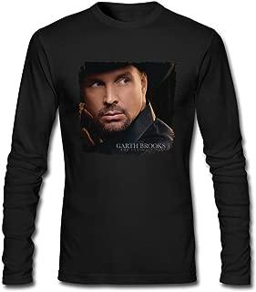 Hefeihe DIY Garth Brooks The Ultimate Hits Men's Long-Sleeve Fashion Casual Cotton T-Shirt