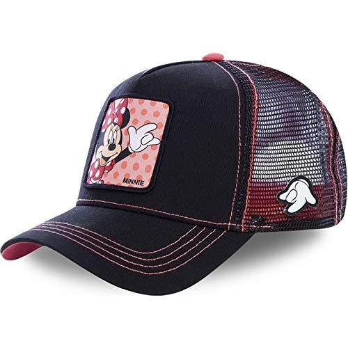 Nueva Gorra de béisbol Snapback para Hombres, Mujeres, Hip Hop, papá, Gorra de Malla, Gorra de Camionero-Minnie Pink