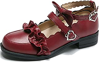 Women's Lolita Cosplay Mary Jane Tea Party Leather Dress Shoes