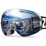 ZIONOR X Ski Snowboard Snow Goggles OTG Design for...