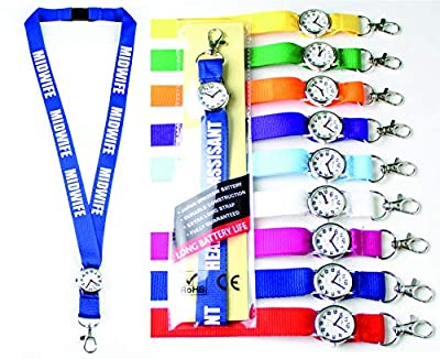 Personalised Lanyard with Integrated Watch for Nurse, Care Assistance, Paramedic, Ambulance,Doctor x 1(Pink) Lanyard Watch (TM) by printed products.co.uk