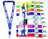 Personalised Lanyard with Integrated Watch for Nurse, Care Assistance, Paramedic, Ambulance,Doctor x 1(Pink) (Hands Off  Lanyard)