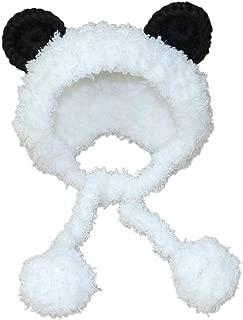 POPETPOP Panda Bear Dog Costume Neck Ear Warmer Headband Protector for Cat and Dog Size S