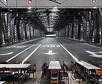 壁紙 3D 鉄橋スペースレトロ 不織布壁紙テレビ背景壁