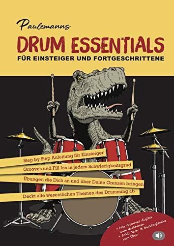 Paulemanns Drum Essentials Schlagzeug Lernen Lehrbuch für Schlagzeuger Notenbuch Schlagzeug Kinder Anfänger und Fortgeschrittene Inkl. Gratis MP3s