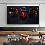 KWzEQ Coole DJ Orang-Utan Nordic Poster und Drucke Wandkunst Leinwand Malerei Wandbild Wohnzimmer...