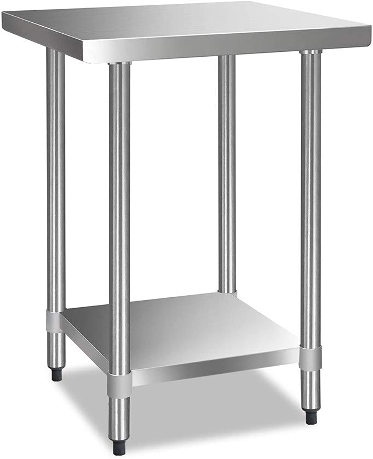 430 Stainless Steel Commercial Kitchen Bench Food Prep & Work Table (610x610mm)