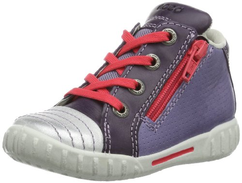 ECCO Unisex-Baby Mimic Warm Grey Whisky Sa/Su Lauflernschuhe, Weiß (White/Night Shade/Light Purple 57368), 19 EU