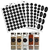 300+ Printed Spice Jar and Pantry Label Set - Includes Extra Write-on Labels