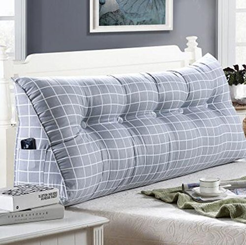 JJJJD Bett Kissen, Doppelbett Soft Pack, Bett Rückenpolster (Color : A1, Size : 120 * 25 * 50cm)