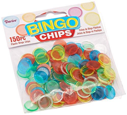 Darice 1096-68,150-Piece Plastic Bingo Chip