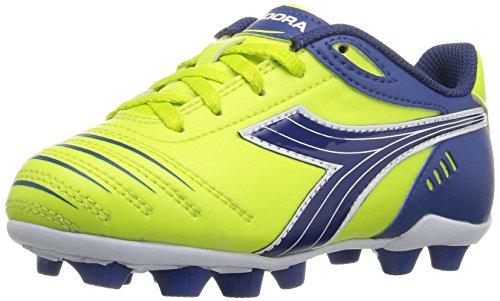 Diadora Kids' Cattura MD Jr Soccer Shoe, Lime...