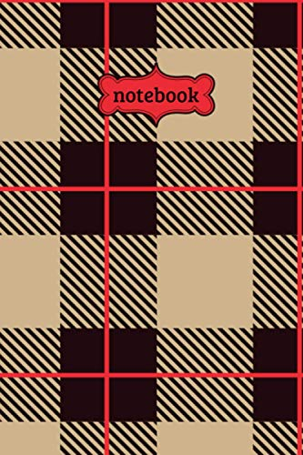 Notebook: Scottish Tartan Check Plaid Flannel Lumberjack Pattern Journal - Lined Journal & Diary for Writing Taking Notes (6
