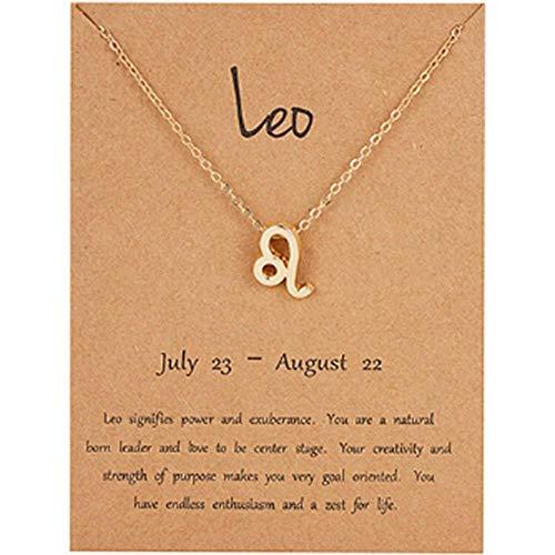 LMKAZQ Elegante Sternzeichen Sternbild Anhänger Glamour Weiblichen Schmuck Anhänger Goldkette Halskette, G