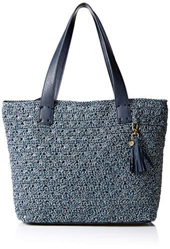 The Sak Unisex The Fairmont Crochet Large Tote, Vintage Blue Static