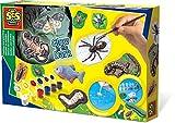 SES Set de moldear y Pintar Animales terroríficos Que Brillan en la Oscuridad para niños, Multicolor (01153)
