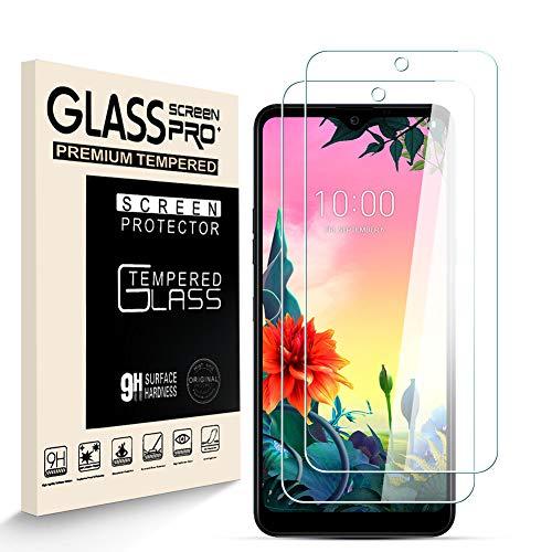 HJX Panzerglas Schutzfolie für LG K50S, 9H-Festigkeit Tempered Glass, Anti-Kratzer, Einfache Installation, Anti-Fingerabdruck Bildschirmschutzfolie für LG K50S [2 Stück]
