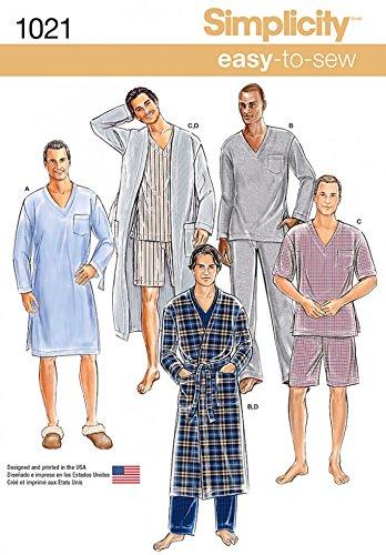 Simplicity Herren-Schnittmuster 1021 - Schlafanzug und Bademantel