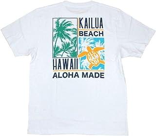 ALOHA MADE アロハメイド メンズ 半袖 Tシャツ (メンズ ホワイト) 202MA1ST067 フララニ サーフブランド ハワイアン 雑貨 (M)