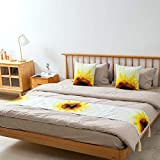 KIDsportxie Moderno Bed Runner Giallo Floreale Bed Soft Cover Bedding Sciarpa Guesthouse Bed Bed Tail End Protector Sala dei Matrimoni del Piede Fine Striscia Blended,Sun Flower-45x180cm (1.5m Bed)