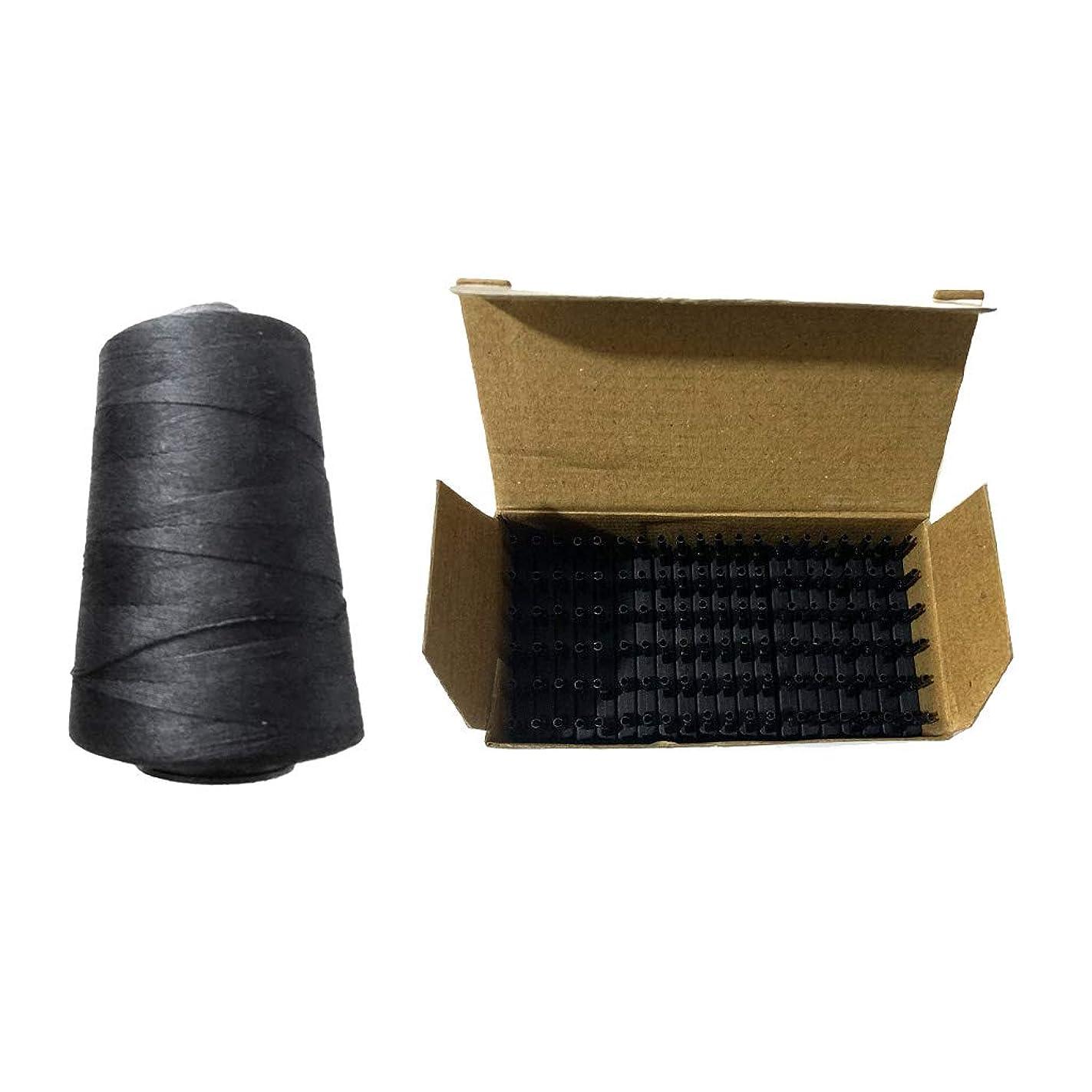 無声で電話ミトンgazechimp 編む糸 かつらスレッド ヘアエクステンション バックル クリップ