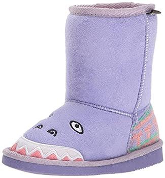 Muk Luks Girl s Cera Dinosaur Boots Fashion Purple 10 M US Little Kid