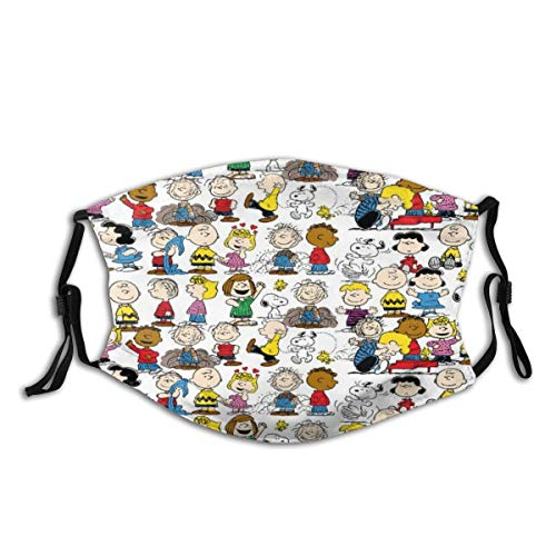 Cartoon Cute Dog Design Face Protection With 2pcs P-M-2.5 Filters Reusable Washable Mask Bandanas Neck Gaiter Balaclavas For Men Women Kids - Characters Of Dog