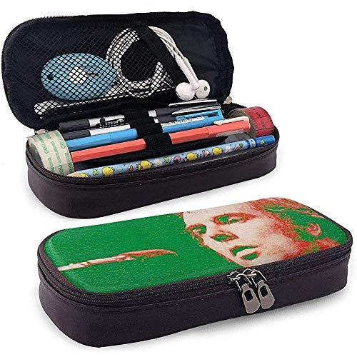 Estuche de lápices de cuero en Morrison Artículos de tocador rápidos Bolsas de cosméticos Estuche de organizador Estuche de lápices