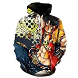 ZJYJSE Nueva Caricatura De Una Pieza D. Luffy 3D Hoodie Hombres Mujeres Casual Niños Niñas Streetwear Sudadera Chaqueta-Ws22204_3XL