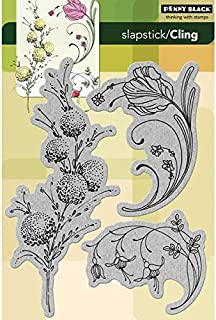 Penny Black 238446 Delicate Florals Cling Rubber Stamp, 5 by 7.5-Inch