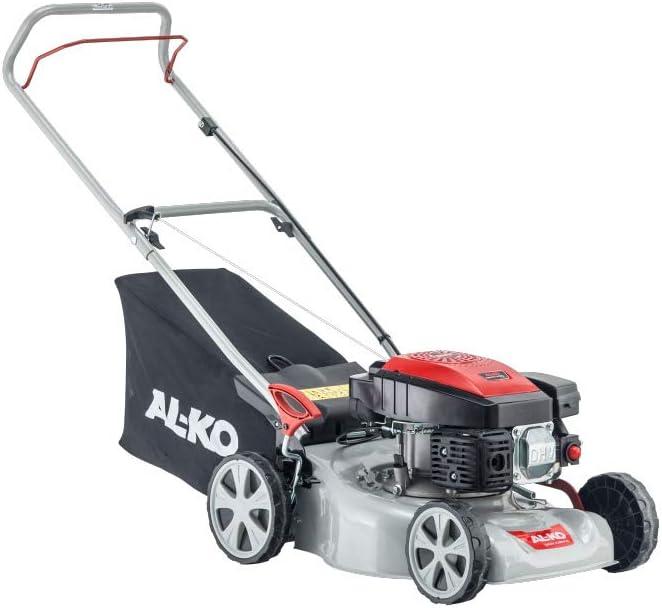 AL-KO 113794 Cortacésped 42 cm de Ancho de Corte, Perfecto para céspedes de tamaño pequeño a Mediano, Motor de Gasolina de 140 CC, Cubierta de Acero Fuerte