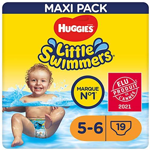 Huggies Little Swimmers - Pañales (tamaño 5 a 6, 19 piezas), 1 unidad