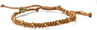 Wakami Handmade Braided Bracelet | Boho Jewelry for Women & Men | Adjustable 7-11.5in, Waterproof | Wax Coated String, Fai...