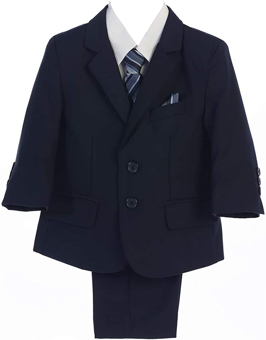 iGirldress Baby Toddler Boys 5 Piece Formal Ring Bearer First Communion Suit