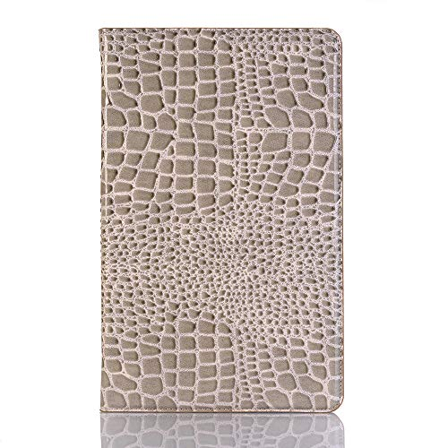 Price comparison product image US taStone Samsung Tab A 10.5 Tablet Case, Crocodile Pattern PU Leather Folio Cover with Auto Sleep / Wake, Lightweight Smart Protector Case with Card Slots for Galaxy Tab A 10.5 inch (SM-T590 / T595) Grey