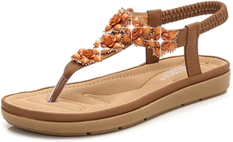 Owen Moll Women Flip-Flop Sandals Bohemia Style Ladies Stylish Soft Summer Beach Vacation Flat shoes
