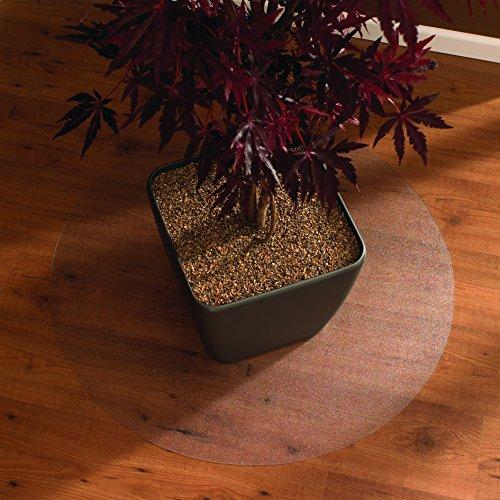 Floortex Bodenschutzmatte   Bürostuhlunterlage ultimat   90 cm Durchmesser   aus Original Polycarbonat   transparent   rund   TÜV Zertifiziert   für alle Böden