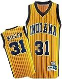 CDS Pacers Jerseys del Baloncesto de los Hombres -Indiana # 31 Reggie Miller Jersey, Respirable Fresco Tela Alero Unisex clásico sin Mangas de la Camiseta (Color : White, Size : XL:185cm/85~95kg)
