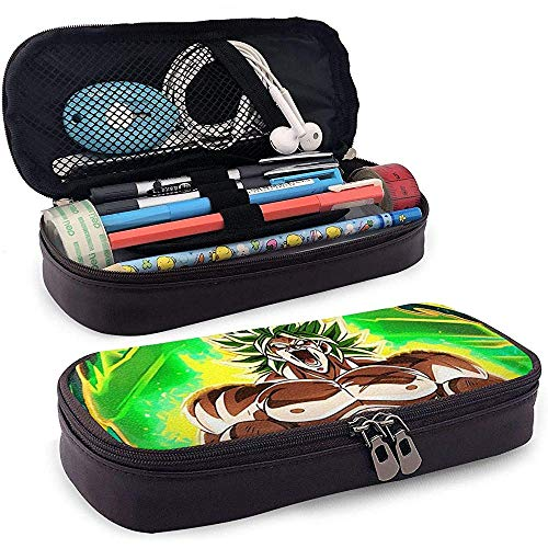 Neues Design Leder Federmäppchen Schule Schreibwaren Box DB Super Broly Legandary Cusomized Federmäppchen, Make-up Fall, Werkzeugkoffer