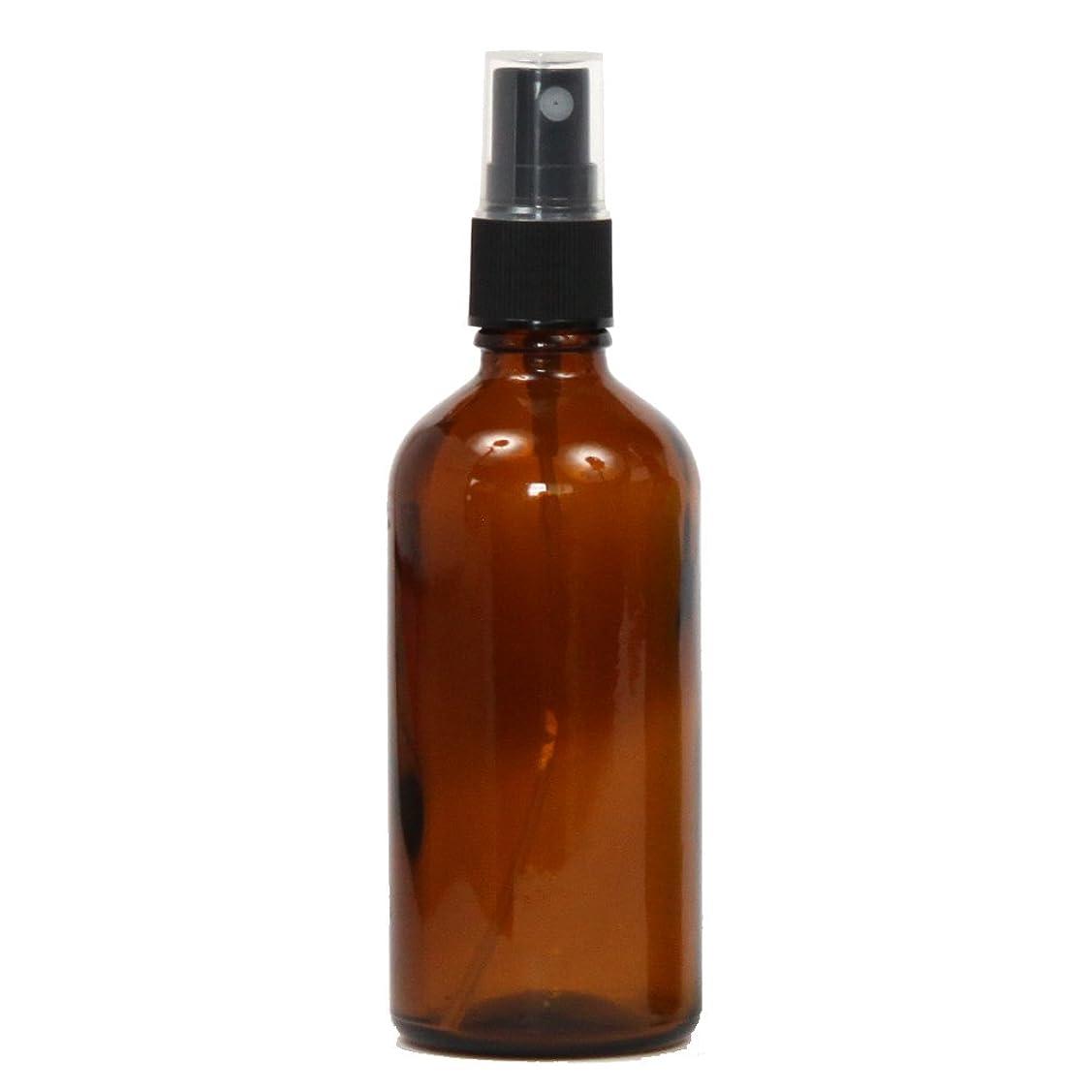 試用サリーデジタルスプレーボトル ガラス瓶 100mL 遮光性ブラウン(アンバー) おしゃれアトマイザー ミスト空容器