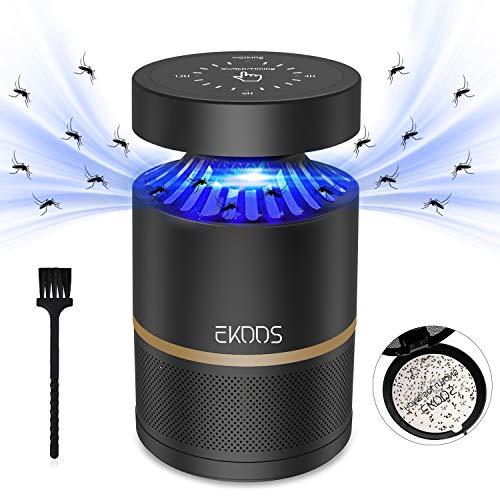 EKOOS Mosquito Trap, 5V USB Mosquito Zappers Lamp con Luz Ultravioleta, Ventilador Incorporado, Trampa de Inhalación, Moscas de la Fruta, Polilla de Drenaje, Mosquito.