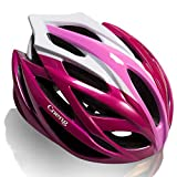 Cneng Bike Helmet for Adult CE and CPSC Certified Bicycle Helmet for Men and Women Lightweight Mountain MTB Bike Helmet Adjustable Unisex Road Cycling Helmet Red and Pink